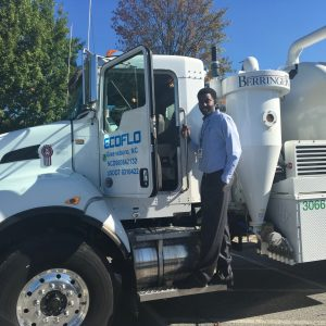 Industrial Services Department Technician with ECOFLO Vacuum Truck. 2017