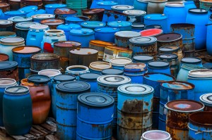 Several barrels of Hazardous Waste in Tampa, FL
